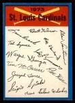 1973 O-Pee-Chee Blue Team Checklist #23   Cardinals Team Checklist Front Thumbnail