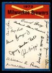 1973 O-Pee-Chee Blue Team Checklist #13   -    Brewers Team Checklist Front Thumbnail