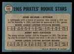 1965 O-Pee-Chee #143   -  John Gelnar / Jerry May Pirates Rookies Back Thumbnail