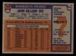 1976 Topps #340  John Gilliam  Back Thumbnail