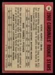 1969 O-Pee-Chee #136   -  Steve Huntz / Mike Torrez Cardinals Rookies Back Thumbnail