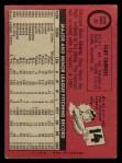 1969 O-Pee-Chee #26  Clay Carroll  Back Thumbnail