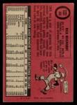 1969 O-Pee-Chee #205  Rick Reichardt  Back Thumbnail