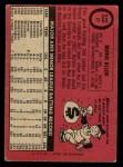 1969 O-Pee-Chee #27  Bernie Allen  Back Thumbnail
