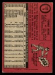 1969 O-Pee-Chee #70  Tommy Helms  Back Thumbnail