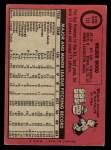 1969 O-Pee-Chee #123  Wilbur Wood  Back Thumbnail