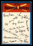 1973 O-Pee-Chee Blue Team Checklist #10   -     Astros Team Checklist Front Thumbnail