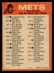 1973 O-Pee-Chee Blue Team Checklist #16   -      Mets Team Checklist Back Thumbnail