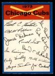 1973 O-Pee-Chee Blue Team Checklist #5   Cubs Team Checklist Front Thumbnail