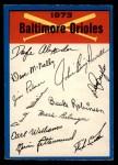 1973 O-Pee-Chee Blue Team Checklist #2   Orioles Team Checklist Front Thumbnail