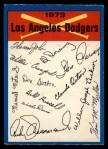 1973 O-Pee-Chee Blue Team Checklist #12   Dodgers Team Checklist Front Thumbnail