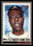 2000 Topps #237 A  -  Hank Aaron 1st Career HR - Magic Moments Front Thumbnail