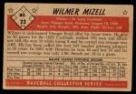 1953 Bowman B&W #23  Wilmer Mizell  Back Thumbnail