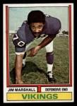 1974 Topps #377  Jim Marshall  Front Thumbnail