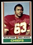 1974 Topps #480  Willie Lanier  Front Thumbnail