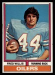 1974 Topps #75 ONE Fred Willis  Front Thumbnail