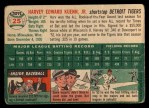 1954 Topps #25 WHT Harvey Kuenn  Back Thumbnail