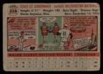 1956 Topps #216  Jerry Schoonmaker  Back Thumbnail