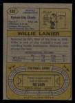 1974 Topps #480  Willie Lanier  Back Thumbnail