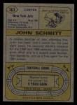 1974 Topps #363  John Schmitt  Back Thumbnail