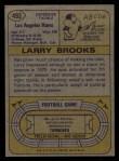 1974 Topps #493  Larry Brooks  Back Thumbnail