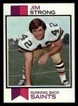 1973 Topps #523  Jim Strong  Front Thumbnail
