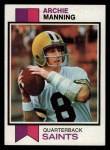 1973 Topps #125  Archie Manning  Front Thumbnail