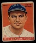 1933 Goudey #187  Heinie Manush  Front Thumbnail