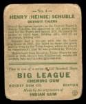 1933 Goudey #4  Heinie Schuble  Back Thumbnail