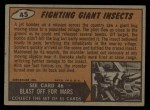 1962 Topps / Bubbles Inc Mars Attacks #45   Fighting Giant Insects  Back Thumbnail