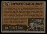 1962 Mars Attacks #48   Earthmen Land on Mars Back Thumbnail