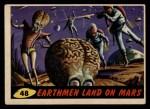 1962 Mars Attacks #48   Earthmen Land on Mars Front Thumbnail