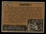 1962 Topps / Bubbles Inc Mars Attacks #30   Trapped Back Thumbnail