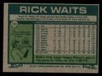 1977 Topps #306  Rick Waits  Back Thumbnail