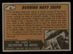 1962 Topps / Bubbles Inc Mars Attacks #6   Burning Navy Ships  Back Thumbnail