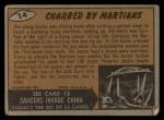 1962 Topps / Bubbles Inc Mars Attacks #14   Charred by Martians  Back Thumbnail