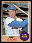1968 Topps #582  Jerry Grote  Front Thumbnail