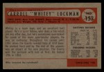 1954 Bowman #153 ALL Whitey Lockman  Back Thumbnail