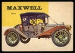 1954 Topps World on Wheels #13   Maxwell Roadster 1911 Front Thumbnail