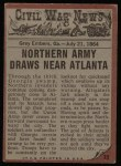 1962 Topps Civil War News #73   Through the Swamp Back Thumbnail