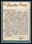 1964 Topps Beatles Diary #27 A Paul McCartney  Back Thumbnail