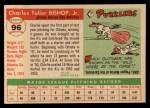 1955 Topps #96  Charlie Bishop  Back Thumbnail