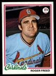 1978 Topps #504  Roger Freed  Front Thumbnail