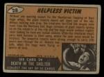 1962 Topps / Bubbles Inc Mars Attacks #28   Helpless Victim  Back Thumbnail