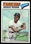 1977 Burger King #18  Mickey Rivers  Front Thumbnail