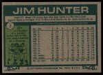 1977 Burger King #4  Catfish Hunter  Back Thumbnail
