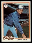 1978 Topps #496  Jim Clancy  Front Thumbnail