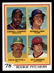 1978 Topps #711   -  Cardell Camper / Dennis Lamp / Craig Mitchell / Roy Thomas Rookie Pitchers   Front Thumbnail