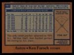 1978 Topps #181  Ken Forsch  Back Thumbnail
