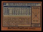 1978 Topps #320  Fred Lynn  Back Thumbnail